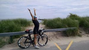 Recent bike ride to Sodus Point - the famed lighthouse is in the background.